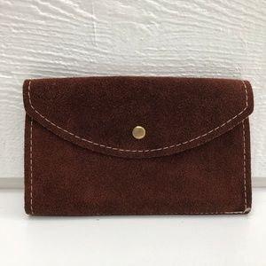 Vintage Suede wallet in Beautiful Brown leather